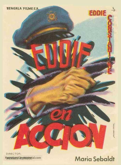 Hoppla, jetzt kommt Eddie - Spanish Movie Poster