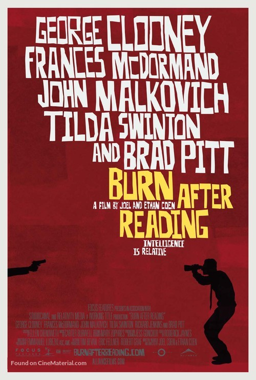Burn After Reading - Canadian Movie Poster