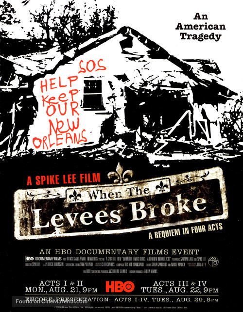 """""""When the Levees Broke: A Requiem in Four Acts"""" - Movie Poster"""
