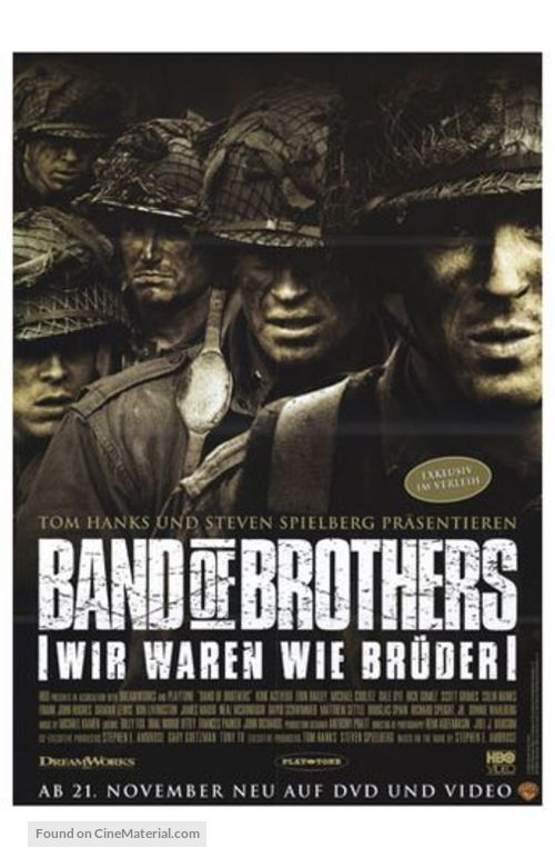 """""""Band of Brothers"""" - German Video release movie poster"""