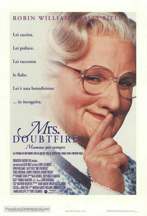 Mrs. Doubtfire - Italian Movie Poster