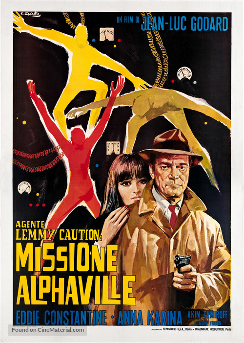 Alphaville, une étrange aventure de Lemmy Caution - Italian Movie Poster