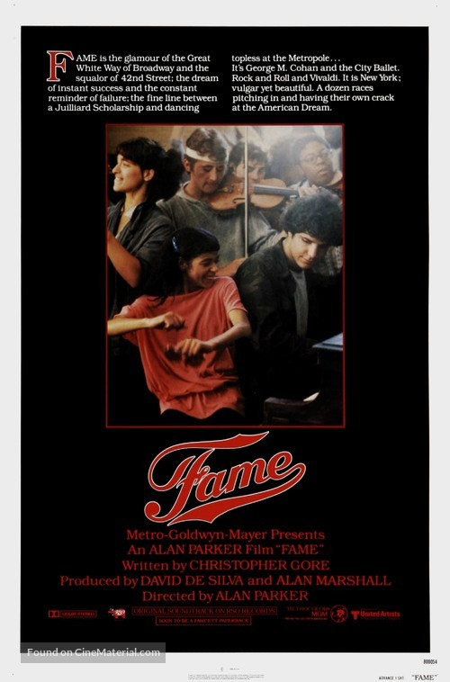 Fame - Movie Poster
