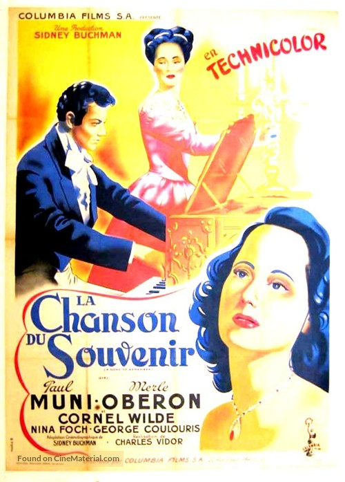 A Song to Remember - French Movie Poster