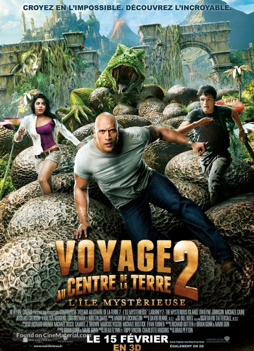 Journey 2: The Mysterious Island - French Movie Poster