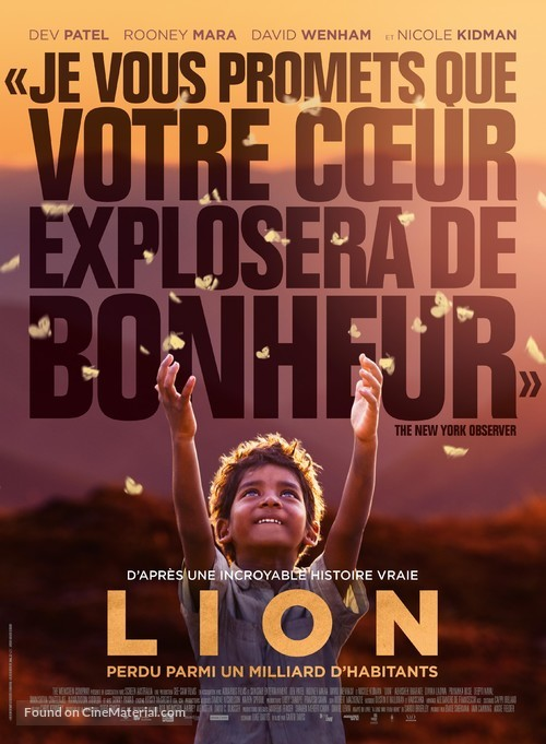 Lion - French Movie Poster