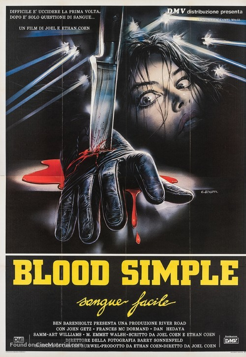 Blood Simple - Italian Movie Poster