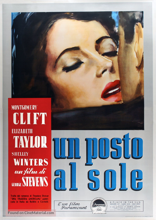 A Place in the Sun - Italian Movie Poster
