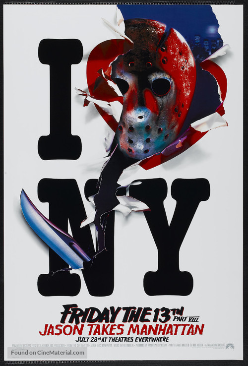 Friday the 13th Part VIII: Jason Takes Manhattan - Advance movie poster
