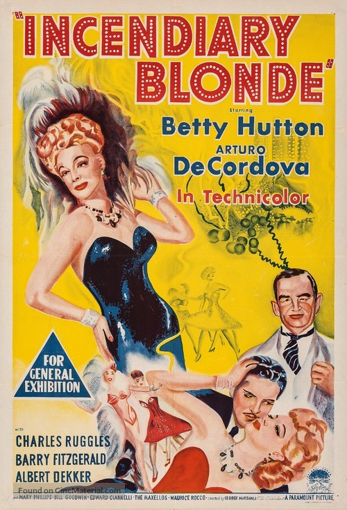Incendiary Blonde - Australian Movie Poster