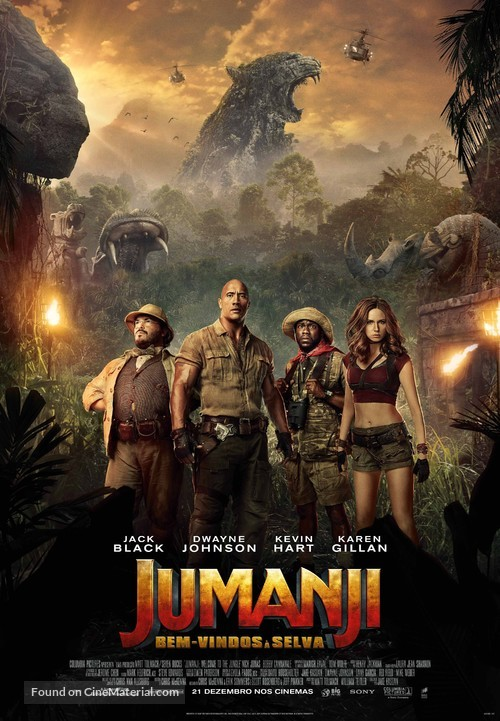 Jumanji: Welcome to the Jungle - Portuguese Movie Poster
