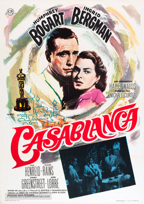 Casablanca - Spanish Movie Poster