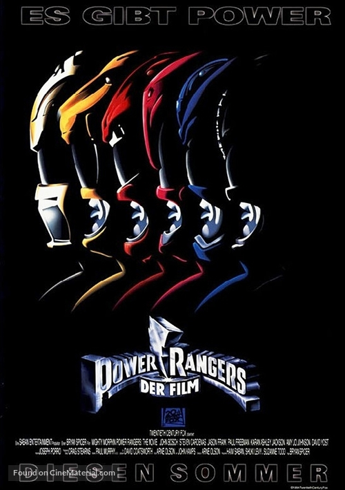 mighty morphin power rangers the movie german movie poster