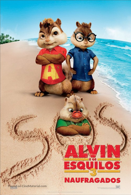 Alvin and the Chipmunks: Chipwrecked - Portuguese Movie Poster