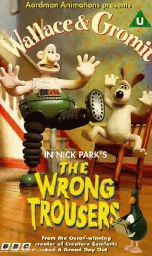 The Wrong Trousers - British VHS movie cover
