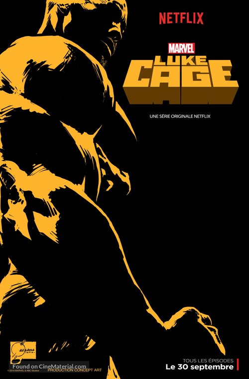 """""""Luke Cage"""" - French Movie Poster"""