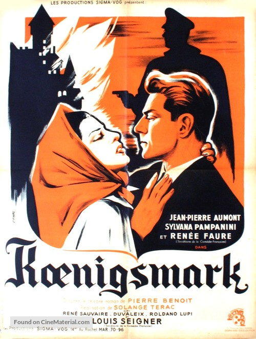 Koenigsmark - French Movie Poster