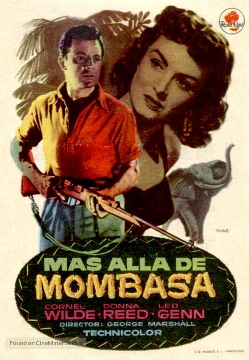 Beyond Mombasa - Spanish Movie Poster