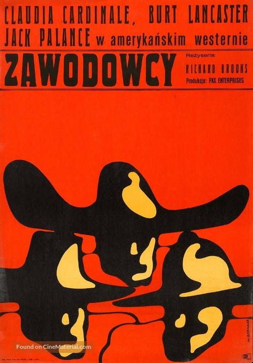The Professionals - Polish Movie Poster
