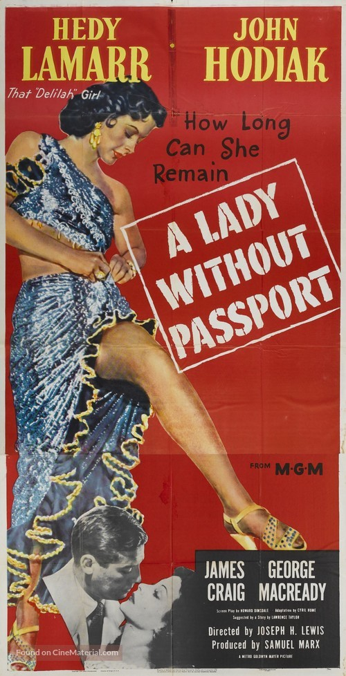 A Lady Without Passport - Movie Poster