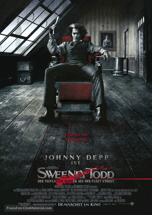 Sweeney Todd: The Demon Barber of Fleet Street - German Movie Poster