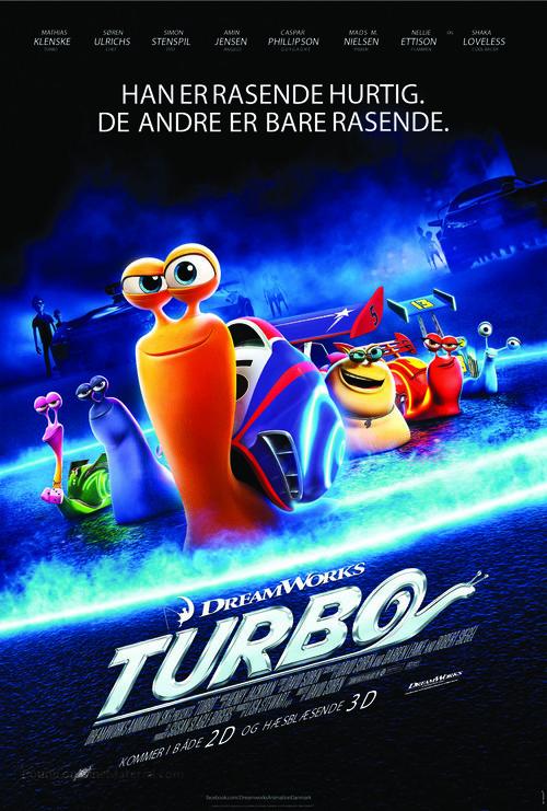 Turbo - Danish Movie Poster
