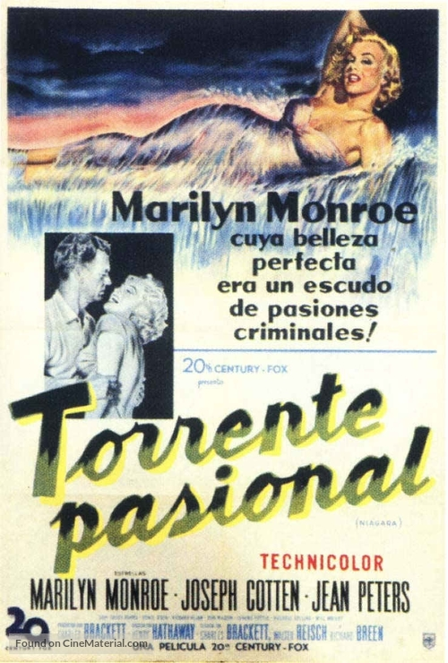 Niagara - Argentinian Theatrical movie poster