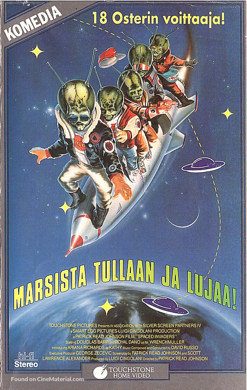Spaced Invaders - Finnish VHS movie cover