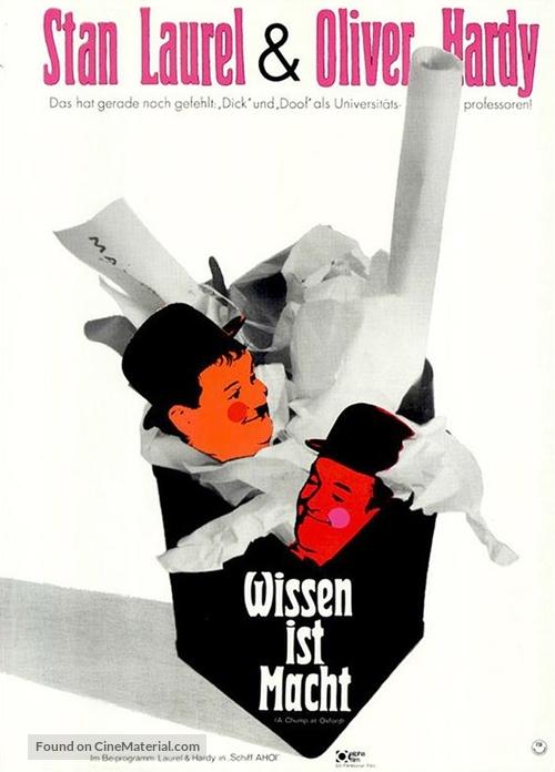 A Chump at Oxford - German Movie Poster