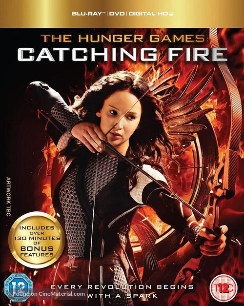 The Hunger Games Catching Fire 2013 British Blu Ray Movie Cover