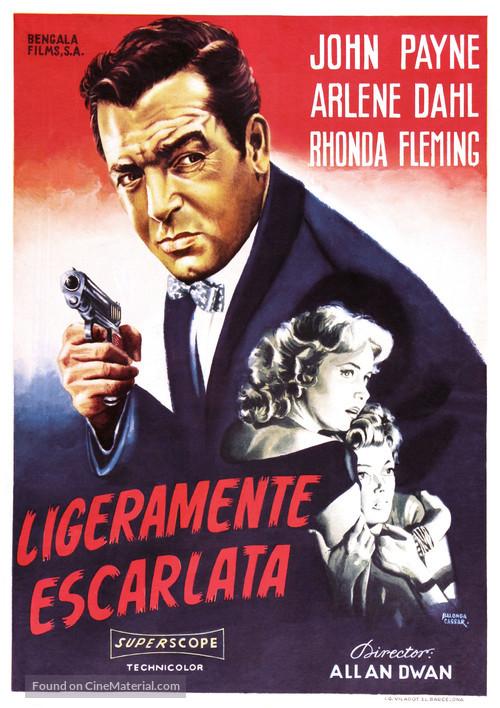 Slightly Scarlet - Spanish Movie Poster
