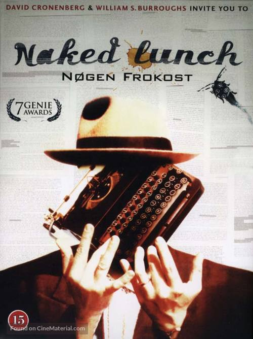Naked Lunch - Danish DVD movie cover