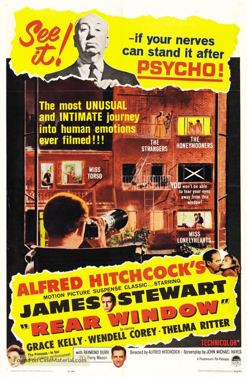 Rear Window - Re-release movie poster
