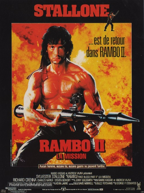 Rambo: First Blood Part II - French Movie Poster