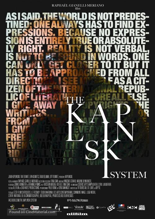 The Kaplinski System - Estonian Movie Poster