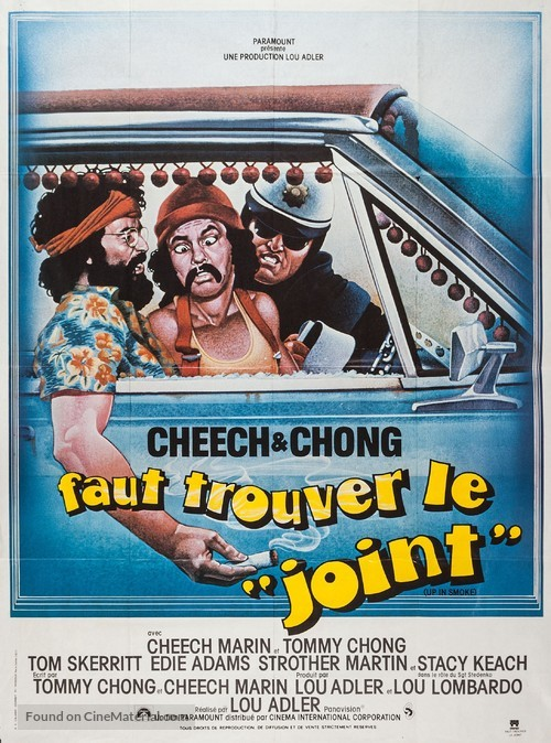 Up in Smoke - French Movie Poster