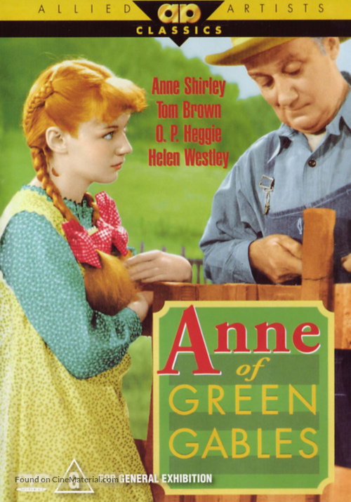 Anne of Green Gables - DVD movie cover
