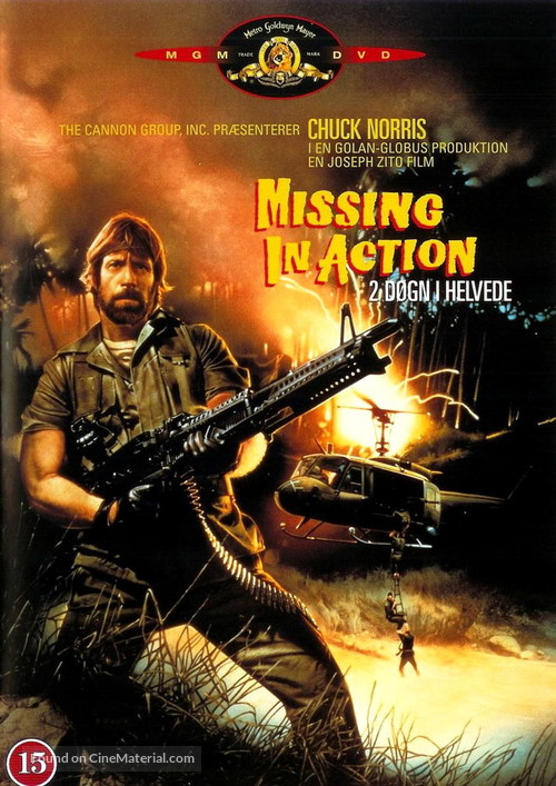 Missing in Action - Danish DVD movie cover
