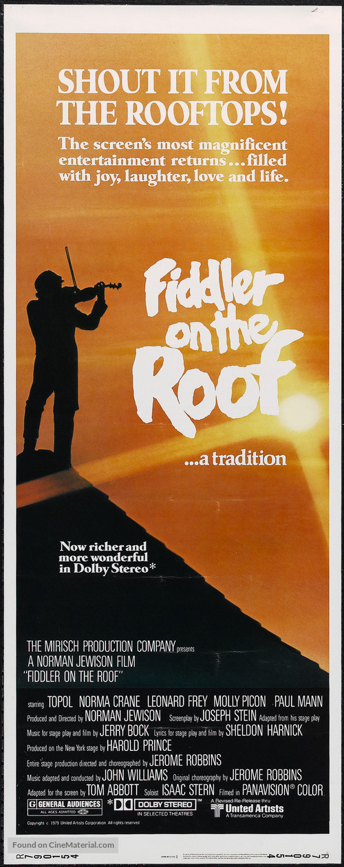 Fiddler on the Roof - Movie Poster