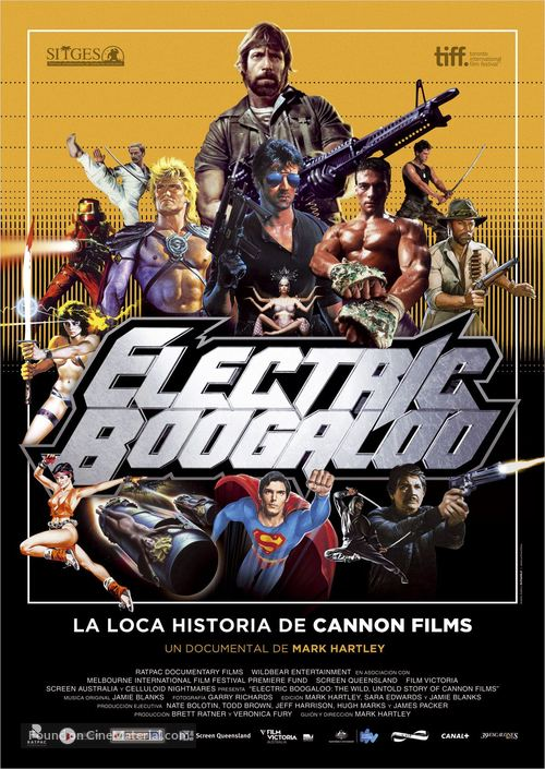Electric Boogaloo: The Wild, Untold Story of Cannon Films - Spanish Movie Poster