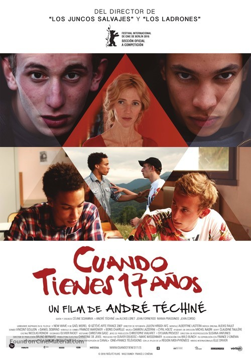 Quand on a 17 ans - Spanish Movie Poster