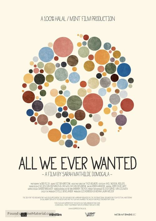 All we ever wanted - Dutch Movie Poster