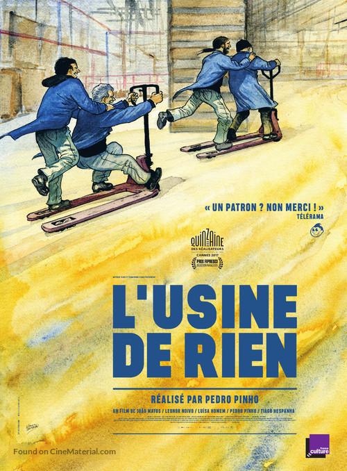 A Fábrica de Nada - French Movie Poster