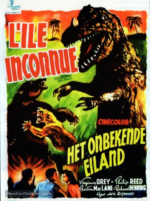 Unknown Island - Belgian Movie Poster