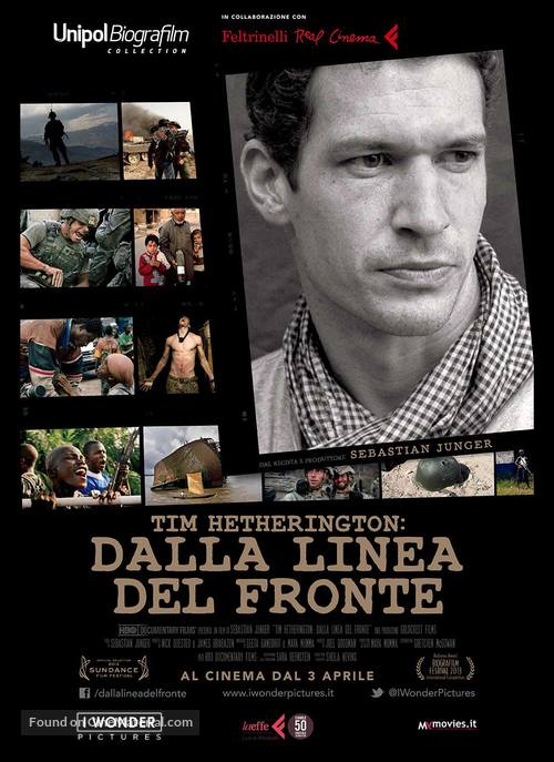 Which Way Is the Front Line from Here? The Life and Time of Tim Hetherington - Italian Movie Poster