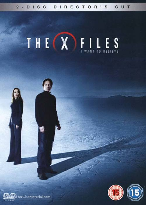 The X Files: I Want to Believe British dvd cover X Files I Want To Believe Movie