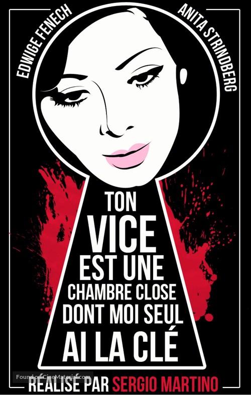 Il tuo vizio è una stanza chiusa e solo io ne ho la chiave - French DVD movie cover
