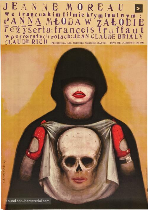 La mariée était en noir - Polish Movie Poster