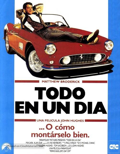 Ferris Bueller's Day Off - Spanish Movie Poster