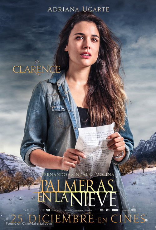 Palmeras en la nieve - Spanish Movie Poster